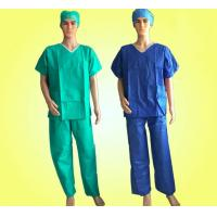 China SMS Patient Disposable Scrub Suits With Short Cuff Minimizing Cross - Infection for sale