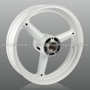Wholesale Three Spoke Cut Custom Motorcycle Wheels , High Performance Aluminum Alloy Wheel Rims from china suppliers