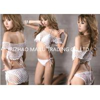 Wholesale Fashion White Cotton Hollow Out Crochet Swimwear For Beachwear S M L XL from china suppliers