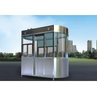 Wholesale Stainless Steel Security Guard Booths , Park Security Guard Shack from china suppliers