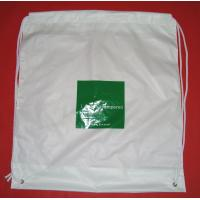 Wholesale White Lightweight Plastic Drawstring Backpack Bags For Mobile Phone / Handphone from china suppliers