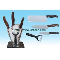 Wholesale kitchen ceramic knife set with block from china suppliers