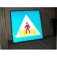 Wholesale Solar Powered Warning Signs Pedestrian Crossing Light Aluminum Board from china suppliers