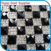 Wholesale Hot Fix Crystal Sticker Fabric Sticker Rhinestone Mesh Net from china suppliers