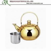 Wholesale Golden Kettle Hot Sales Stainless steel tea kettle V-LLHG 14cm, 16cm, 18cm, 20cm from china suppliers