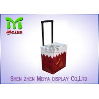 Wholesale Foldable Corrugated Material Advertising Carton Trolley With Retractable Handle And Wheels from china suppliers