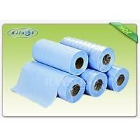 Wholesale Light Blue PP Nonwoven Disposable Waterproof Bed Sheets Roll for Hospital from china suppliers