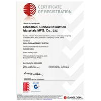 Shenzhen Sunbow Insulation Materials MFG. CO., LTD Certifications