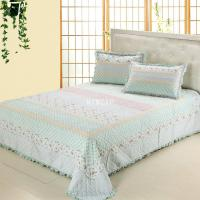 Blue colourway patchwork bedding set