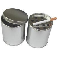 Wholesale round metal ashtray box from china suppliers