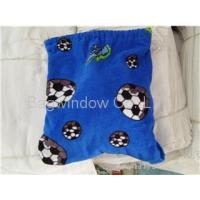 China 100% cotton velour beach towel with bag(2 in 1) on sale