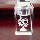 Crystal Lighter with 3d laser engraving