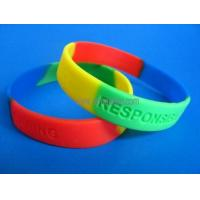 Wholesale silicone wristband-muti color with debossed logo from china suppliers