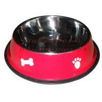 Wholesale 11 4/5 inch green colored dog dish 001C-30 from china suppliers