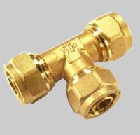 Compression fittings for pex pipe Tee