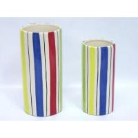 Wholesale Ceramic Utensil Holder Big Ceramic Stripe Color Utensil Holder from china suppliers