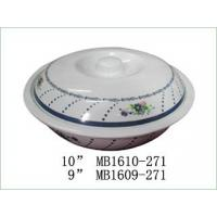 Wholesale MELAMINE BOWL WITH COVER Item No:MB1610set2-271 from china suppliers
