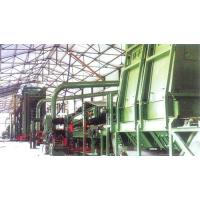 The illustration of MDF production line process