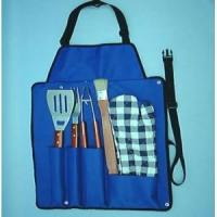 Wholesale I5-PC WOODEN BBQ TOOL SET IN A CANVAS APRON from china suppliers