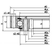 Four point contact ball slewing bearing (internal gear type)