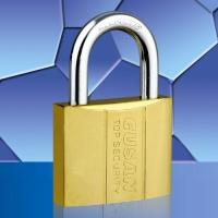 Wholesale Ti-gold Dual-line Padlock from china suppliers