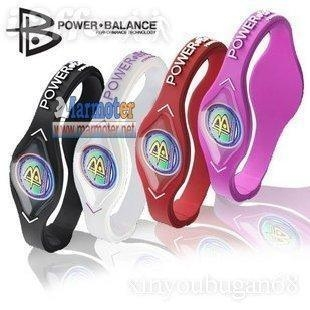 Quality Free dropshipping Power Balance Bracelet Silicone Wristband with Retail box for sale