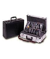 "Wholesale Tool Case REMOVABLE PALLET/6 COMPARTMENT TOOL CASEThis pallet holds 17 hand tools/parts in place in compartment area, document area and pen/pencil holders. TOOLS NOT INCLUDED.Size: 18"" x 13"" x6"" from china suppliers"