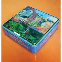 Food case, metal lunch box, square beauty tin lunch box