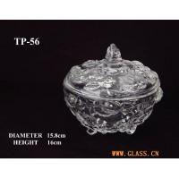 Wholesale Glasswork pressed glass candy jars from china suppliers