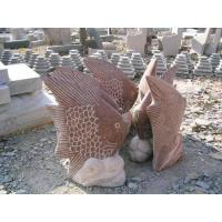 Wholesale Natural Stone Animal Carvings---fishes from china suppliers
