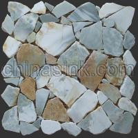 Wholesale blue onyx crazy paver stone mosaic 10 from china suppliers