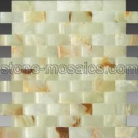 Wholesale green onyx luxury arc stone mosaics 94a from china suppliers