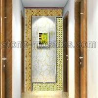 Buy cheap cream and green onyx mosaic hallway project from wholesalers