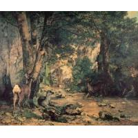 Wholesale Impressionist(3830) A Thicket of Deer at the Stream of Plaisir-Fountaine from china suppliers