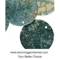 Wholesale Wholesale Natural Moss Agate Pendants, Coin Shape (30mm), AA+ Grade, per pcs from china suppliers