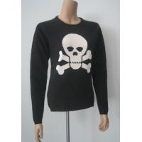 Wholesale Women Cashmere Sweater Crossbones Intarsia Cashmere Sweater from china suppliers