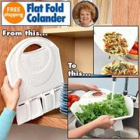Wholesale Kitchenware MY-TV0143 Flat Fold Colander from china suppliers