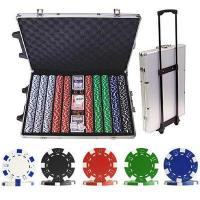Wholesale 1000 Striped Dice Poker Chip Set with Trolley Case from china suppliers