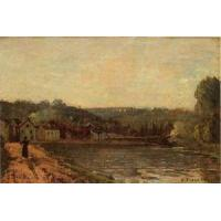 Wholesale Impressionist(3830) The_Banks_of_the_Seine_at_Bougival from china suppliers