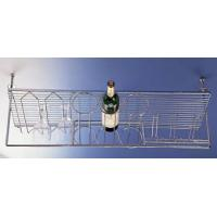 Wholesale Overhead 3-bottle wire rack and 12 glass holder from china suppliers
