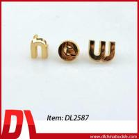 Wholesale Good Design Metal Letter Decor For Bag from china suppliers