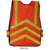 Wholesale Chevron Safety Vests ~ Orange Mesh With Lime Stripes from china suppliers