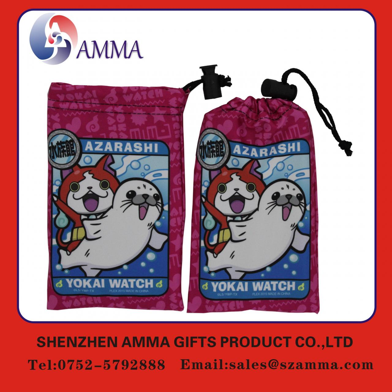 Wholesale Microfiber cleaning pouch Hot sales soft fabric reusable smartphone cleaning pouch from china suppliers