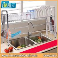 Wholesale Stainless Steel Sink Dish Drainer Storage Rack Removable Drain Rack from china suppliers
