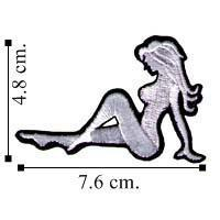 China Automobile Sexy Embroidered Trucker Mudflap Girl Embroidered Sew On Patch on sale