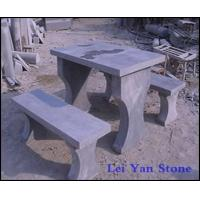 Wholesale blue limestone table+benches from china suppliers