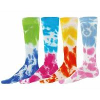 Wholesale Two Tone Tie-Dye Tube Socks - 4 Color Options from china suppliers