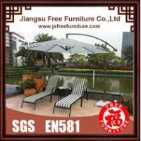 FF16005 Textilene Chaise Lounge Set with Umbrella