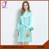 Wholesale Fung 2903 Bridesmaid Solid Silk Robe In Mint from china suppliers