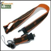 Wholesale USB Woven-logo Satin Lanyards with Reflective String on Both Edges from china suppliers